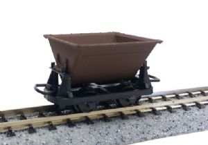Peco GR-330 Hudson Rugga V-skip Wagons, Brown, 3-Wagon Set